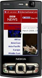 фото смартфон Nokia 500 Blue Black, черный с синим